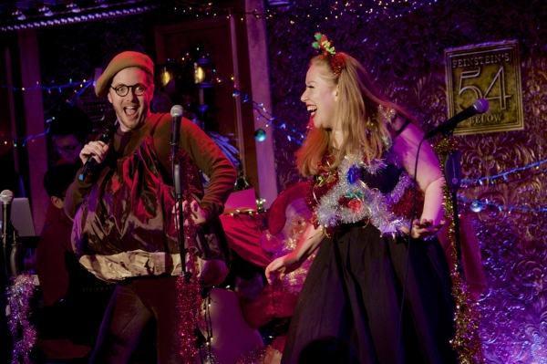 Kevin Michael Murphy and Jennifer Ashley Tepper in ''Mr. Chestnut''s Christmas Medley''