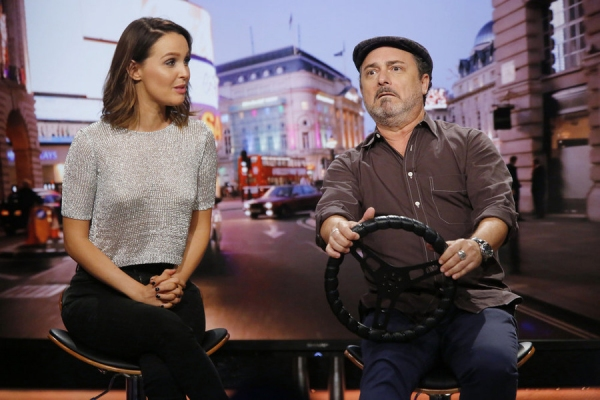 HOLLYWOOD GAME NIGHT -- Episode 404 -- Pictured: (l-r) Camilla Luddington, Kevin Pollak -- (Photo by: Trae Patton/NBC)