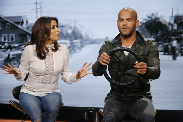 HOLLYWOOD GAME NIGHT -- Episode 404 -- Pictured: (l-r) Eva Longoria, Amaury Nolasco -- (Photo by: Trae Patton/NBC)