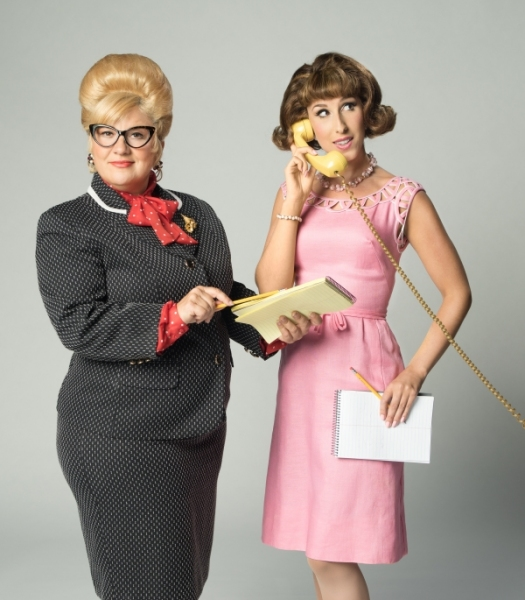 Smitty (Sarah Rudinoff, left) and Rosemary (Sarah Rose Davis, right)