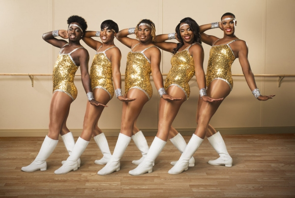 THE PRANCING ELITES -- ''Season 2'' -- Pictured: (l-r) Kareem Davis, Jerel Maddox, Kentrell Collins, Tim Smith, Adrian Clemons -- (Photo by: Michael Wong/Oxygen)