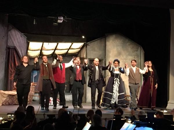 Soprano Carolina Castells as Mimi, tenor Steven Tompkins as Rodolfo, bass Jonathan Scott as Marcello, soprano Victoria Wefer as Musetta, baritone Ryan Lathan as Schaunard and bass Issac Grier as Colline - Conductor Jason C. Tramm