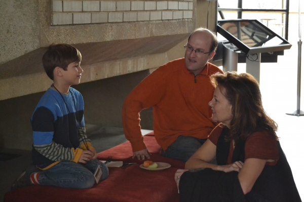 Tyler Smallwood (Young Ethan) and Margaret Colin (Hester Ferris)