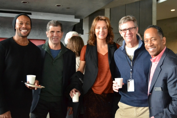 Freddie Bennett (Donald Logan), playwright Anthony Giardina, Margaret Colin (Hester Ferris), Tom Wiggin (Chandler Harris) and  of Artistic Programming Robert Barry Fleming