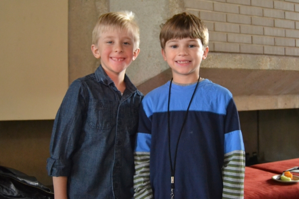 Caeden White (u/s Young Ethan) and Tyler Smallwood (Young Ethan)