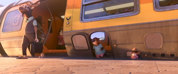 A WORLD FOR BIG AND SMALL â�¿��¿� Walt Disney Animation Studios'' ''Zootopia'' features a vast world where humans never existed. With advanced transportation systems that accommodate mammals of all shapes and sizes, the modern mammal metropolis was built
