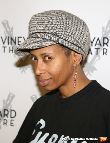 Libya V. Pugh attends the first day of rehearsals for the cast and creatives of the Vineyard Theatre''s production of ''Dot''  at Snapple Center on January 4, 2016 in New York City.