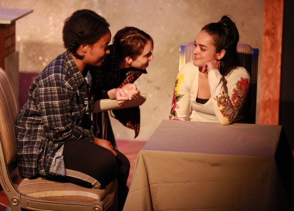 Danielle Rennalls, Brenann Stacker and Erica Pezza in OUR LITTLE SECRET