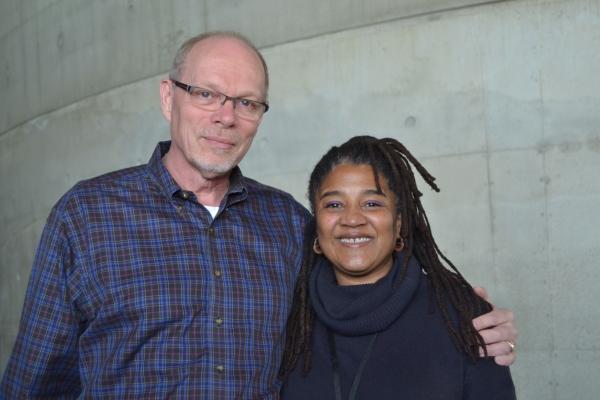 Executive Producer Edgar Dobie and playwright Lynn Nottage