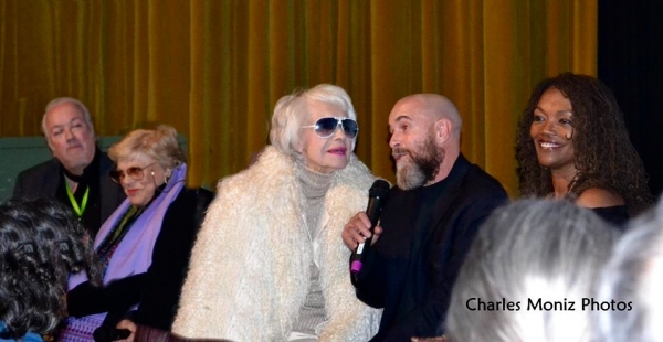 Director Rick McKay with Kaye Ballard, Carol Channing, Troy Garza and Candy Brown