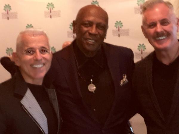 producers Michael Anastasio and Richard Eric Weigle with Oscar-winning actor Louis Gossett, Jr.