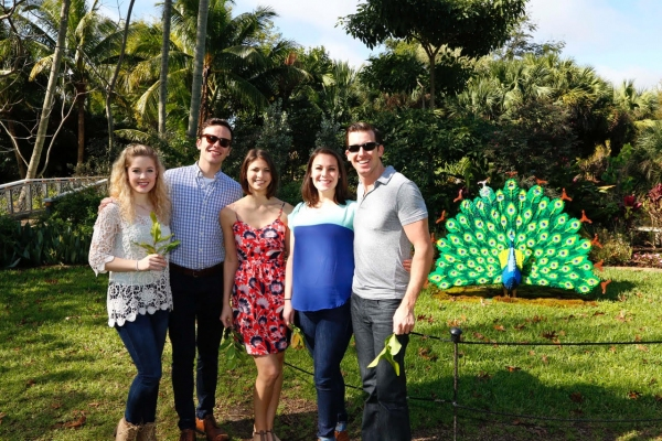 Jocelyn Moss, Mitchell Canfield, Brittney Bigelow, Courtney Moran and Matthew Alexander. Photo by Corby Kaye''s Studio Palm Beach.