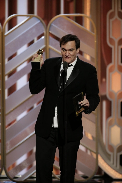 73rd ANNUAL GOLDEN GLOBE AWARDS -- Pictured: Quentin Tarantino, ''The Hateful Eight'', Winner, Best Original Score - Motion Picture at the 73rd Annual Golden Globe Awards held at the Beverly Hilton Hotel on January 10, 2016 -- (Photo by: Paul Drinkwater/N