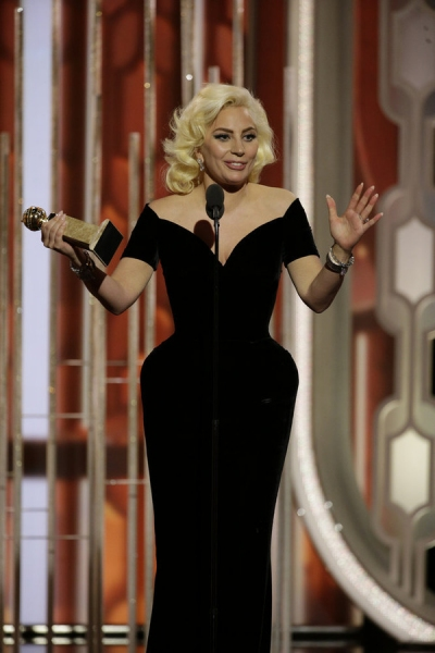 73rd ANNUAL GOLDEN GLOBE AWARDS -- Pictured: Lady Gaga, ''American Horror Story: Hotel'', Winner, Best Actress - Limited Series or TV Movie at the 73rd Annual Golden Globe Awards held at the Beverly Hilton Hotel on January 10, 2016 -- (Photo by: Paul Drin