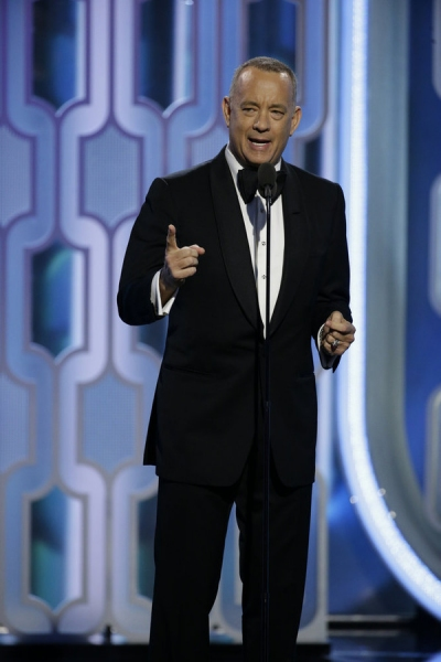 73rd ANNUAL GOLDEN GLOBE AWARDS -- Pictured: Tom Hanks, Presenter at the 73rd Annual Golden Globe Awards held at the Beverly Hilton Hotel on January 10, 2016 -- (Photo by: Paul Drinkwater/NBC)