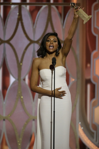 73rd ANNUAL GOLDEN GLOBE AWARDS -- Pictured: Taraji P. Henson, ''Empire'', Winner, Best Actress - TV Series, Drama at the 73rd Annual Golden Globe Awards held at the Beverly Hilton Hotel on January 10, 2016 -- (Photo by: Paul Drinkwater/NBC)