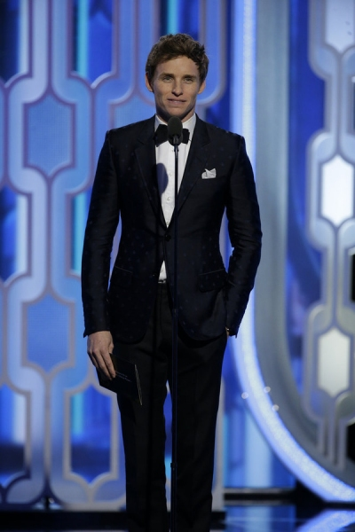 73rd ANNUAL GOLDEN GLOBE AWARDS -- Pictured: Eddie Redmayne, Presenter at the 73rd Annual Golden Globe Awards held at the Beverly Hilton Hotel on January 10, 2016 -- (Photo by: Paul Drinkwater/NBC)