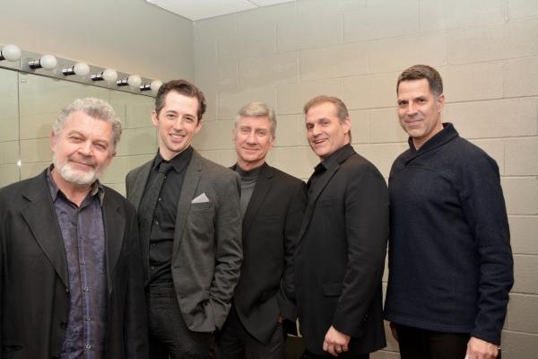 Sam Tsoutsouvas, Josh Grisetti, David Garrison, Marc Kudisch and Christoper Innvar Photo
