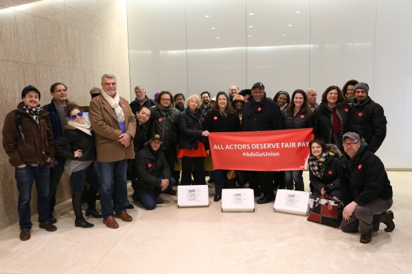 Photo Flash: SAG-AFTRA Members Call for Fair Pay at Droga5 Headquarters