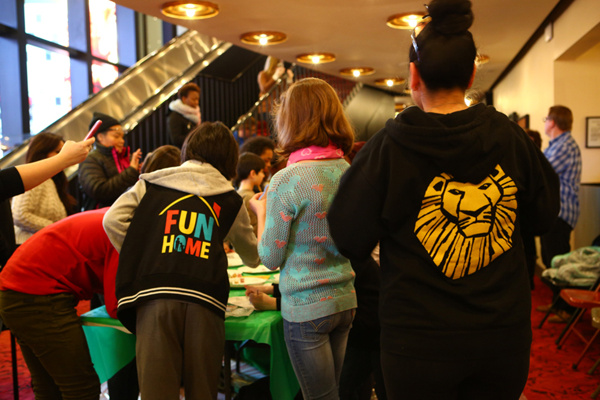 Photo Flash: Broadway Kids Paint at the Minskoff to Support The Butterfly Project