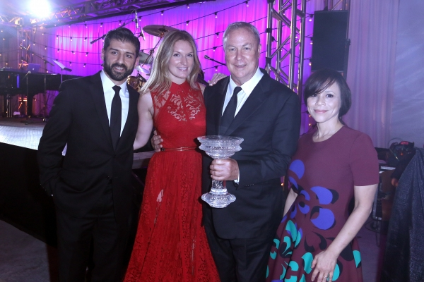 Arison Award Winner Tony Yazbeck, YoungArts Board Member Sarah Arison, Arison Award Winners Robert Wilson and Rosie Perez