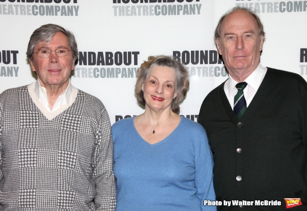 Brian Bedford & Dana Ivey & Paxton Whitehead.attends the Meet & Greet the cast of the Roundabout Theatre Company''s Broadway Production of ''The Importance of Being Earnest''  in New York City.