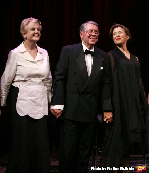 Angela Lansbury, Brian Bedford, Annette Bening, .during the Curtain Call for The Actors Fund One Night Only Benefit of ALL ABOUT EVE at the Eugene O''Neill Theatre in New York City..November 10, 2008.
