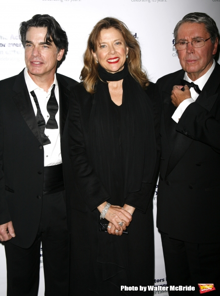 Peter Gallagher, Annette Bening & Brian Bedford.attending the After Party at Bond 45 Restaurant for The Actors Fund One Night Only Benefit of ALL ABOUT EVE at the Eugene O''Neill Theatre in New York City..November 10, 2008