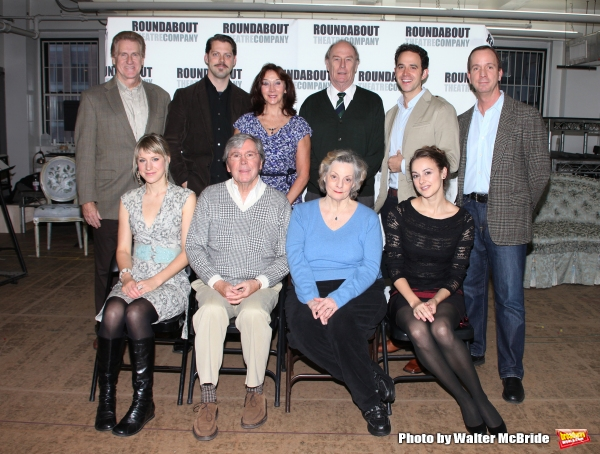 First Row: actress Charlotte Parry, actor Brian Bedford, actress Dana Ivey, actress Sara Topham, 2nd Row: actor Paul O''Brien, actor David Furr, actress Sandra Shipley, actor Paxton Whitehead, actor Santino Fontana and actor Tim McDonaldattends the Meet &