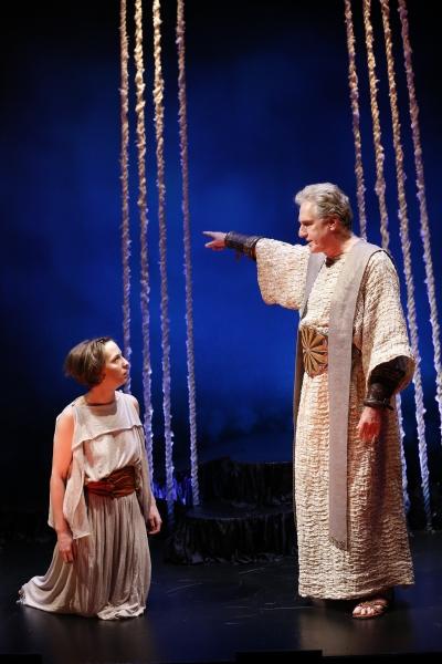 Rebekah Brockman as Antigone and Paul O''Brien as Creon
