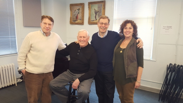 Mark Janas, Len Cariou, Barry Kleinbort, Donna Trinkoff (Artistic Producer, Amas Musical Theatre)