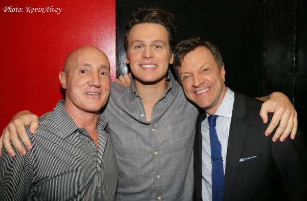 Gianni Valenti, Jonathan Groff and Jim Caruso