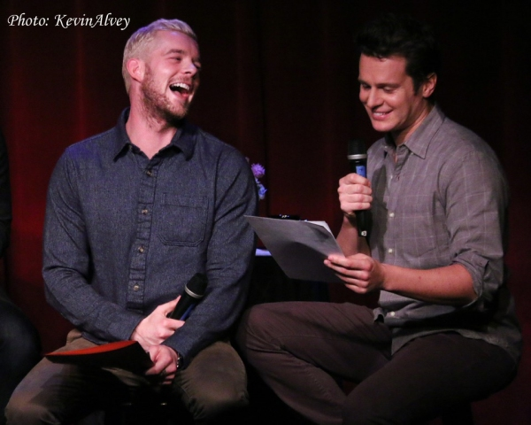 Photo Flash: Jonathan Groff, Russell Tovey and More Clown with Frank DiLella at Birdland