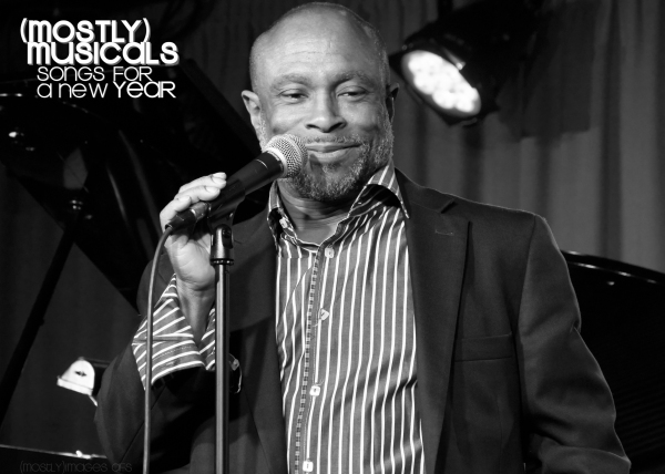 The irrepressible Jeffrey Polk reminds the New Years' crowd that 'The Best Is Yet to Come'