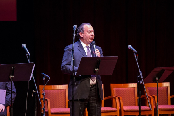 President of The Foundation for Ethnic Understanding, Rabbi Marc Schneier delivers the introductory speech for the concert. Photo by Victor Nechay (properpix.com)
