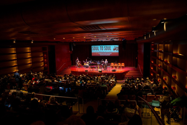 The concert took place in Edmond J. Safra Hall at Museum of Jewish Heritage.