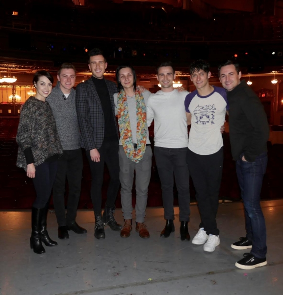 Photo Flash: Musical Theater Boy Band Collabro Attends AN AMERICAN IN PARIS on Broadway