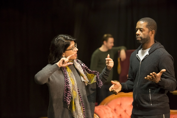 Indhu Rubasingham (Director) and Adrian Lester (Ira)