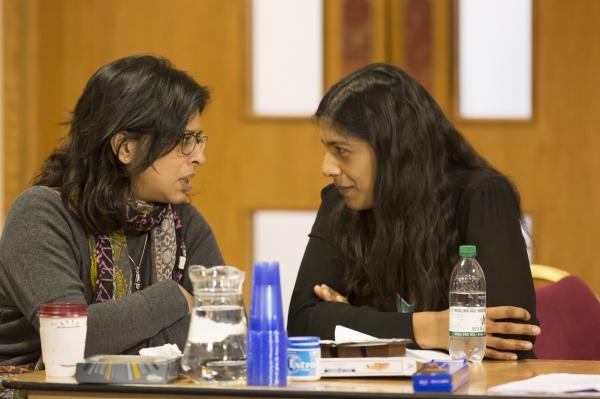 Playwright Lolita Chakrabarti and Indhu Rubasingham ()