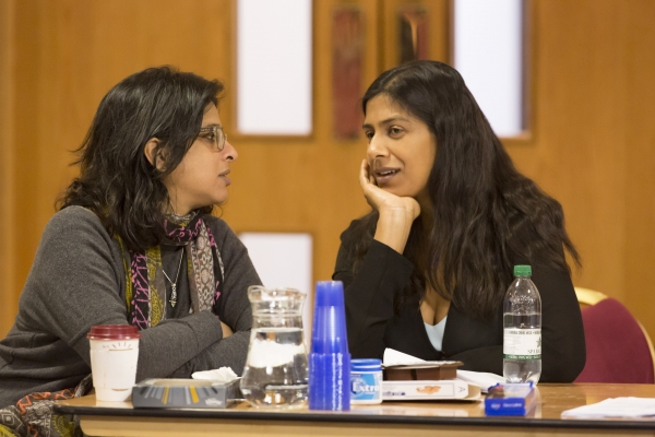 Playwright Lolita Chakrabarti and Indhu Rubasingham (Director)