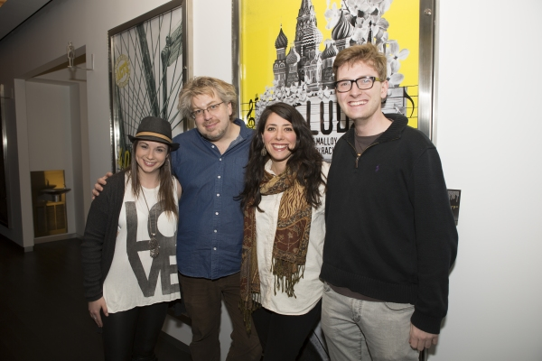 Emily Marshall, Dave Malloy, Rachel Chavkin, and Miley DeWeese