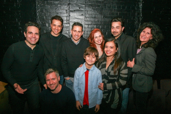ack row, l-r: Mario Cantone, Ralph Macchio, playwright and  Charles Messina, Joli Tribuzio, Johnny Tammaro, Liza Vann; front row, Artistic  Tony Speciale, Nico Bustamante, and Kendra Jain