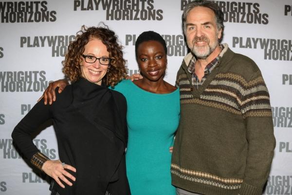 Rebecca Taichman, Danai Gurira and Playwrights Horizons artistic  Tim Sanford