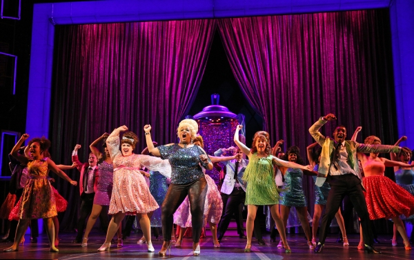 E. Faye Butler (front, center and blonde) leads the cast as Motormouth Maybelle