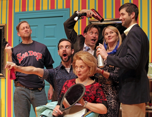 Timothy C. Goodwin as Nick, Michael Wood as Tony, Paul Drinan as Eddie, Laura Houck (in chair) as Mrs. Shubert, Kathleen Kimball as Barbara and Conor Riordan Martin as Mikey