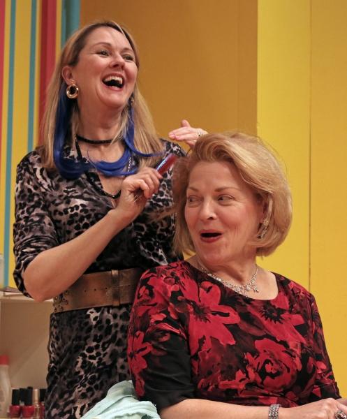 Kathleen Kimball as Barbara and Laura Houck as Mrs. Shubert