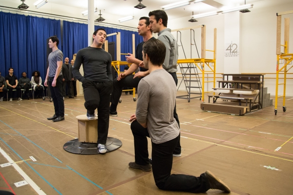 Photo Coverage: Go Inside Rehearsal with Robert De Niro and the Cast of Paper Mill's A BRONX TALE!