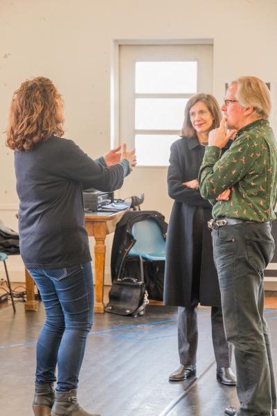 Rachel Kavanaugh, Belinda Lang and David Robb Photo