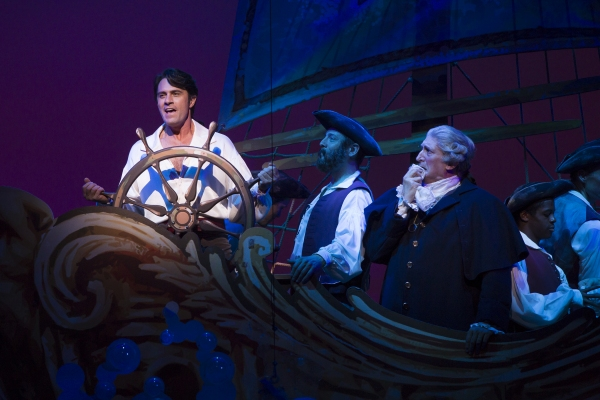 Eric Kunze as Prince Eric and Time Winters as Grimsby Photo
