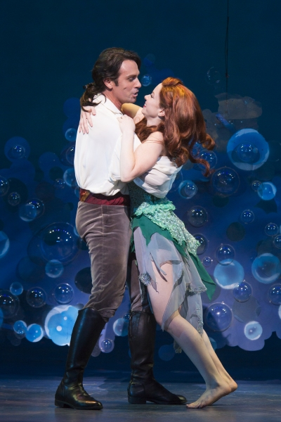 Eric Kunze as Prince Eric and Alison Woods as Ariel